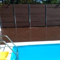 Drevoplastový obklad k bazénu, drevoplastový plot (28)