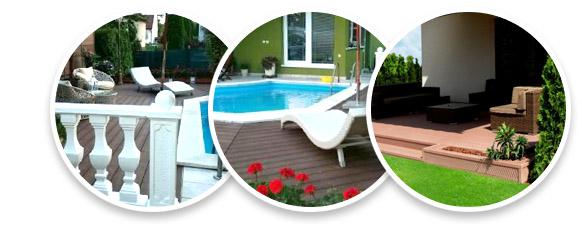 Drevoplastové terasy, fasády a ploty